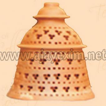 Artistic Bell Shape Clay Lamp Shade