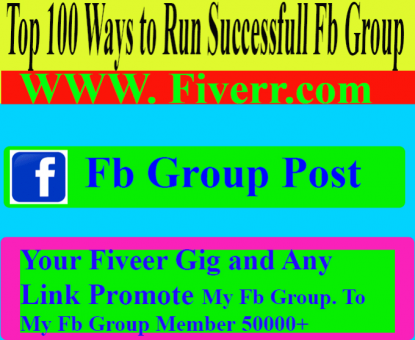 promote your any link 100 fb group post