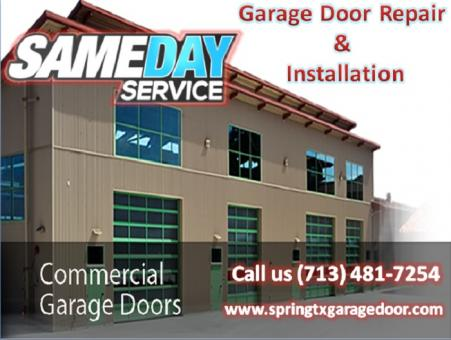 24/7 Garage Door Repair Spring, TX & Spring Repair 77379 @ Call (713) 481-7254